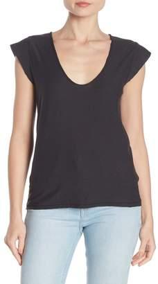 Nation Ltd. Cecilia Deep U-Neck Short Sleeve T-Shirt