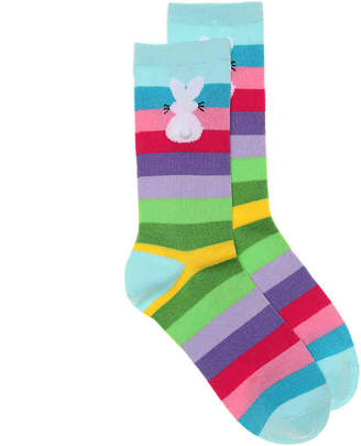 K. Bell Bunny Tail Stripe Crew Socks - Women's
