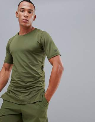 Nike Training Utility Fitted T-Shirt In Khaki AA1591-396