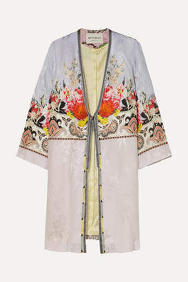 Etro Printed Satin Robe - Lilac