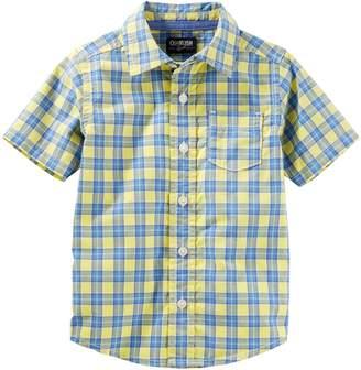 Osh Kosh Oshkosh Bgosh Toddler Boy Plaid Button Down Shirt