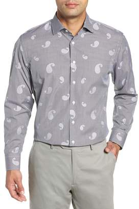 John W. Nordstrom Traditional Fit Paisley Dress Shirt