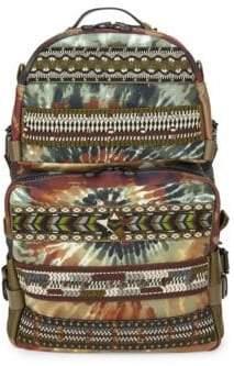 Valentino Printed Zip Backpack