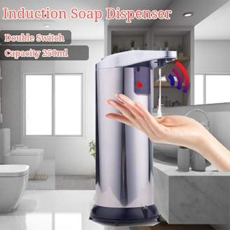 Kadell Automatic Soap Dispenser Touchless Auto Sensor Soap Dispenser with Brushed Stainless-Steel, Fingerprint Resistant Coating, and Waterproof Base