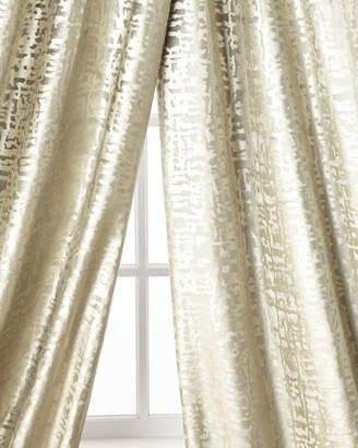 Lili Alessandra Yovanna Silver Shimmer Curtain Panels, Set of Two