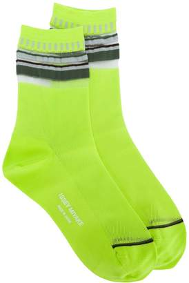 Issey Miyake waffle knit trim socks
