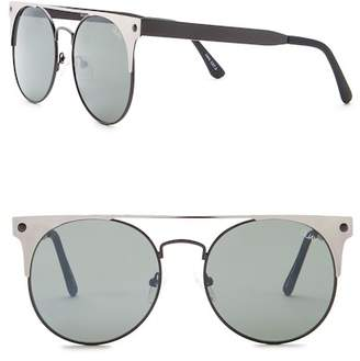 Quay The In Crowd 53mm Round Sunglasses