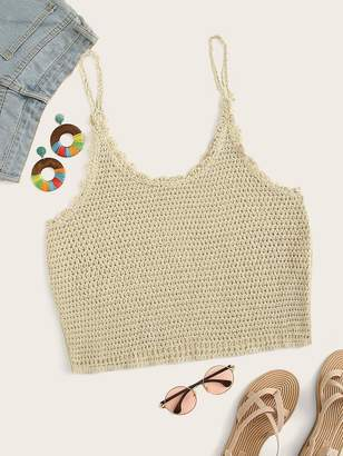 Shein Plus Crochet Bikini Top