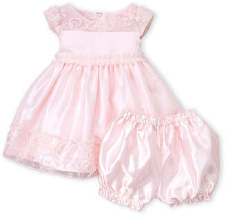 Baby Essentials Princess Faith (Infant Girls) Two-Piece Pink Cap Sleeve Dress & Bloomers Set