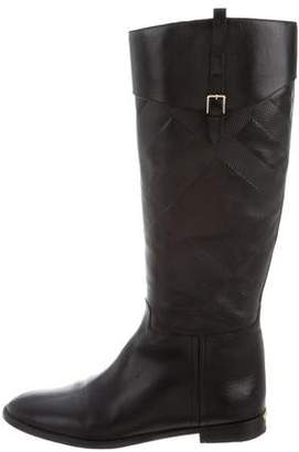 Burberry Beat Check Riding Boots