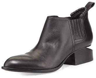 Alexander Wang Kori Leather Tilt-Heel Boots, Black