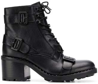Ash multiple buckle straps boots