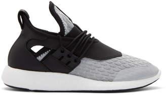 Y-3 Grey and Black Elle Run Sneakers