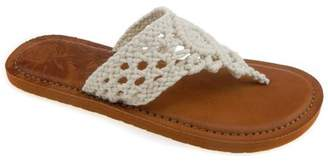 Time and Tru Women's Crochet Flip Flop