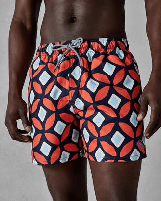 Ted Baker SUNFISH Large geo print swim shorts