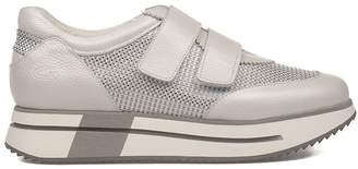 Alberto Guardiani Silver Sport Lady Leather Slip On Sneakers