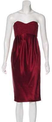Miguelina Strapless Silk Dress w/ Tags