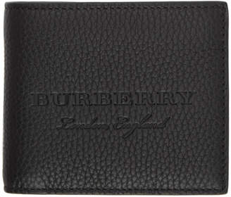 Burberry Black Embossed Logo Wallet