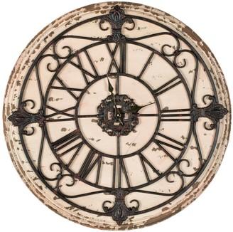 Safavieh Jerry Clock 25-in. Round Wall Clock