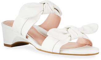 Taryn Rose Nanette Bow Wedge Sandals