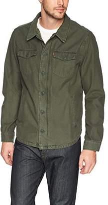 Levi's Men's Washed Cotton Shirt Jacket