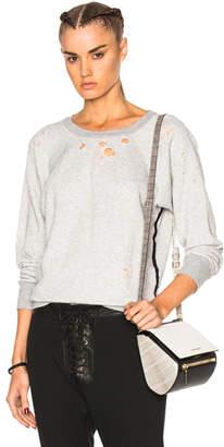 Unravel Shredded Raglan Crewneck Sweatshirt
