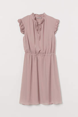 H&M Cap-sleeved Dress - Pink