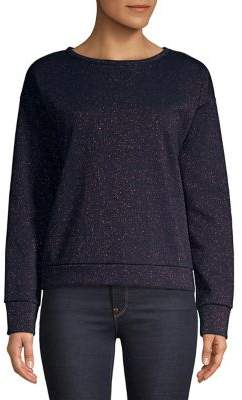 Lord & Taylor Sparkling Speckled Cotton Sweatshirt