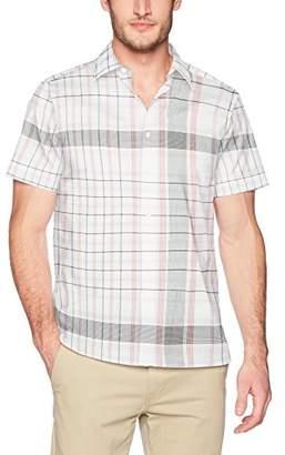 Perry Ellis Men's Short Sleeve Exploded Plaid Shirt