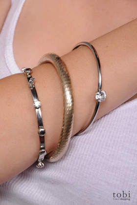 Iosselliani Set of 3 Bangle Bracelets