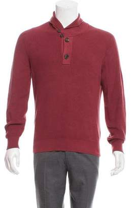 Brunello Cucinelli Shawl Button-Up Sweater