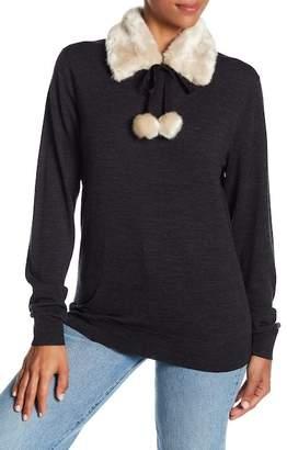 Kate Spade Faux Fur Knit Collar