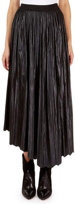 Isabel Marant Dolman Pleated Long-Liquid Asymmetric Maxi Skirt