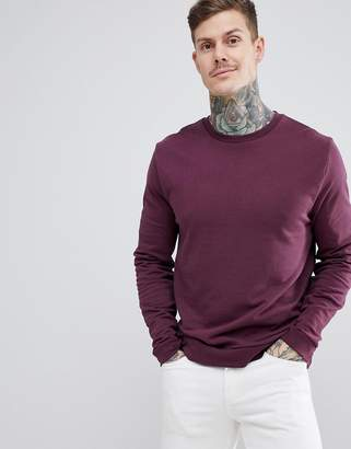 Asos DESIGN sweatshirt in burgundy