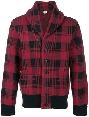 Kent & Curwen plaid large collar jacket