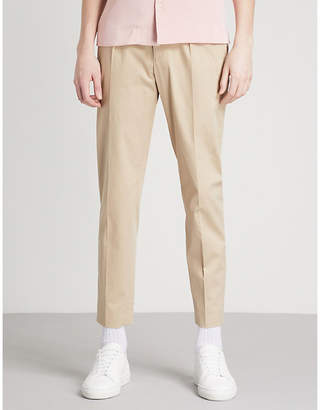 Sandro Slim-fit skinny stretch-cotton trousers