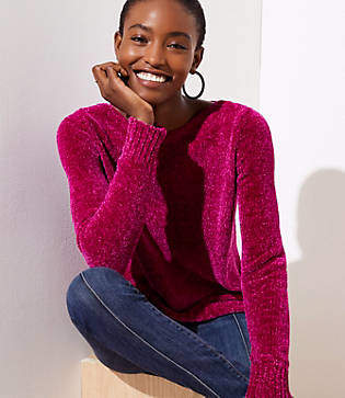 LOFT Petite Chenille Sweater