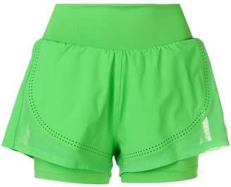 adidas by Stella McCartney layered fitted shorts