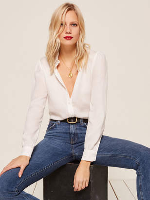 Reformation Allie Lady Top