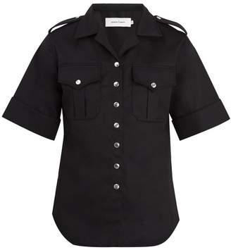Marques'almeida - Short Sleeved Twill Shirt - Mens - Black