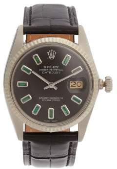 Rolex Lizzie Mandler - Emerald And 18kt White Gold Watch - Womens - Green Gold
