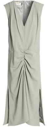 Marni Ruched Crepe Midi Dress