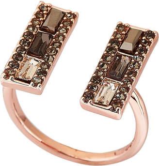 Rebecca Minkoff Rose Gold-Tone Baguette U Ring Size 7