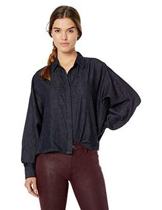 AG Adriano Goldschmied Women's Acoustic Chambray Button UP Shirt