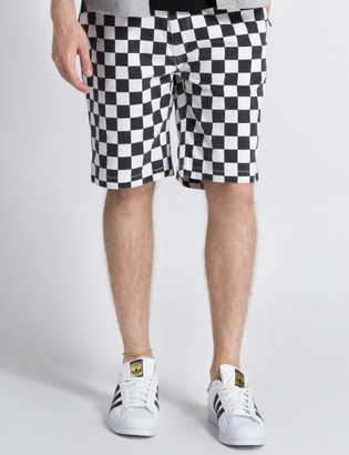 FUCT SSDD White/Black Checker Flag Shorts $173.80 thestylecure.com