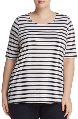 JUNAROSE Holly Stripe Tee $39 thestylecure.com