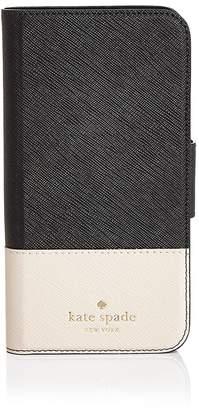 Kate Spade Wrap Folio Saffiano Leather iPhone X Case