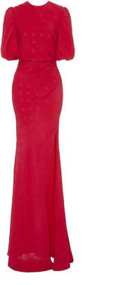 Saloni Annie-B Dotted Silk Gown