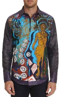 Robert Graham Men's The Conyack Graphic Long-Sleeve Sport Shirt