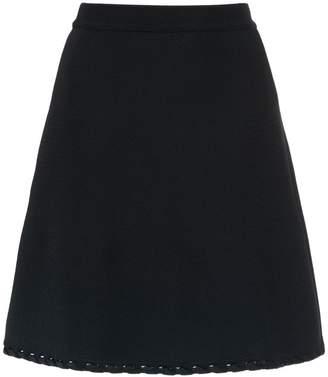 Egrey knit flared skirt